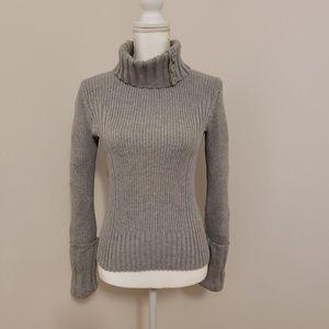 Grey DKNY Turtleneck Sweater Size S